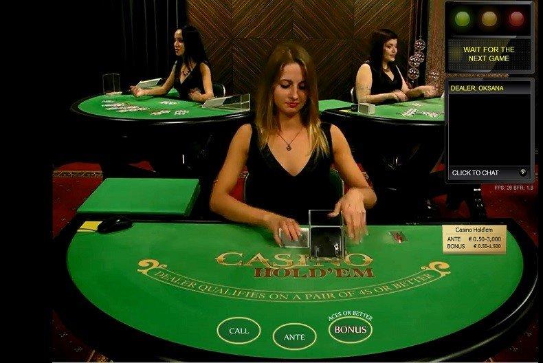 Online Hold'em Poker with Live Dealers