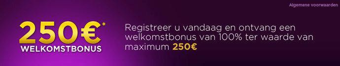 250 euro gratis op jackpotparty