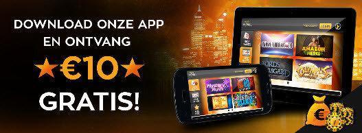 10€ gratis bij download van de magicwins mobiele app