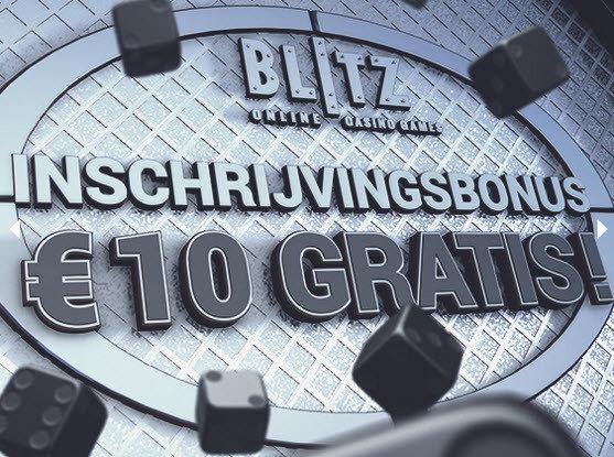 Blitz inschrijvingsbonus 10€ gratis