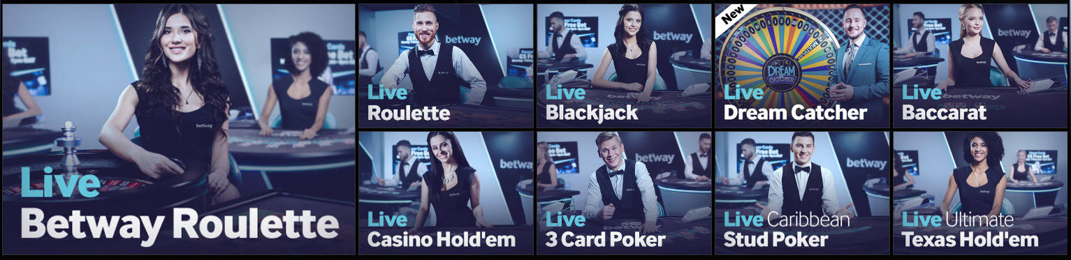 live tafelspellen op Betway online casino
