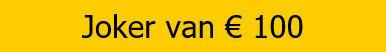 Bwin Freebet | joker van 100 euro