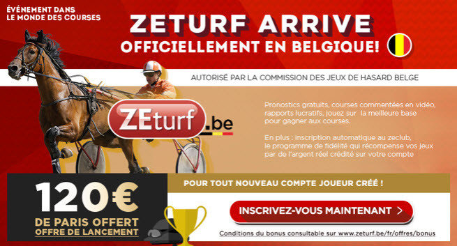Zeturf 120 euro welcome bonus