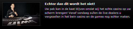 Live dealers op bwin.be