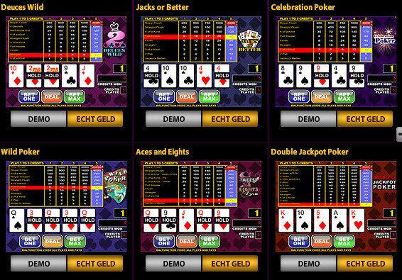 Speel Videopoker op jackpotparty.be
