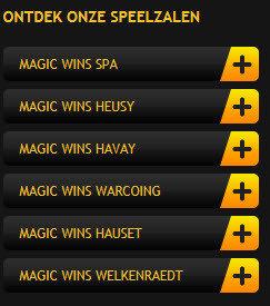 Speelzalen van magicwins.be