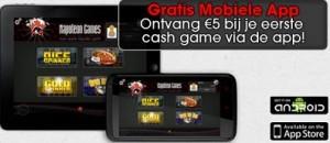 Gratis mobiele app van napoleongames.be