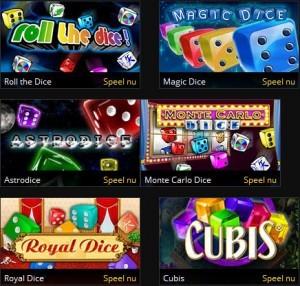Dice games op grandgames.be
