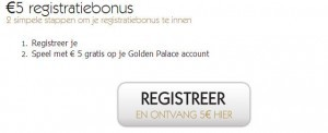 Registratiebonus op goldenpalace.be