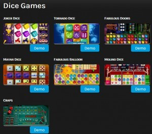 Dice games op miragegames.be