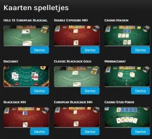 Kaarten spellen op miragegames.be