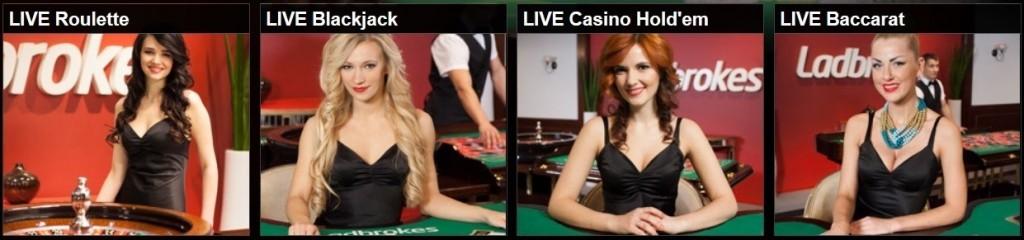live roulette, baccarat,blackjack