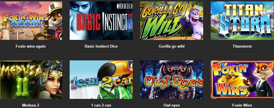 Betfirst online casin games