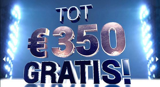 Blitz tot 350€ gratis !