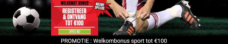 Ladbrokes Promotie - Welkomstbonus sport tot 100€