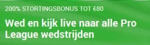 Unibet soirtweddenschappen 200% stortingsbonus tot 80€
