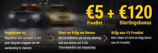 Place2bet | 5€ gratis freebet op BWIN.