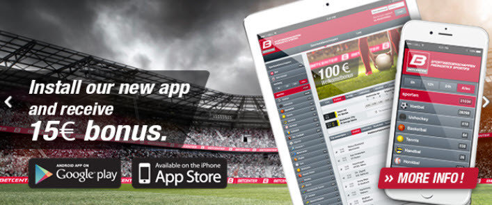 Betcenter Bonus Mobiele Applicatie