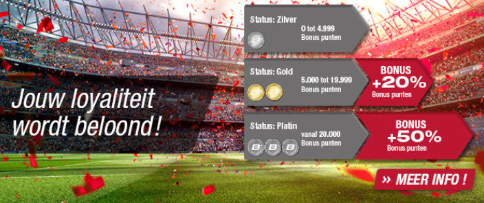 Betcenter loyaliteit bonus