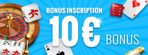 Carousel free registration bonus of 10 €