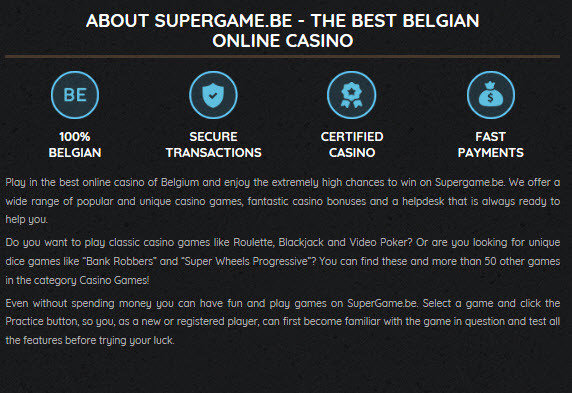 Bitcoin on Supergame Online Casino