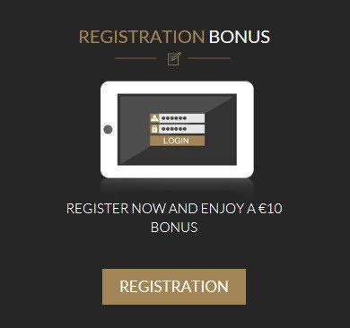 Luckygames free registration bonus of 10 €