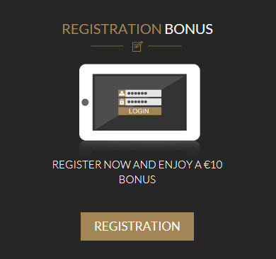 Luckygames free registration bonus of 10 €