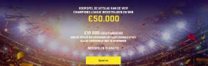 Unibet free predictor promo voor de Champions league