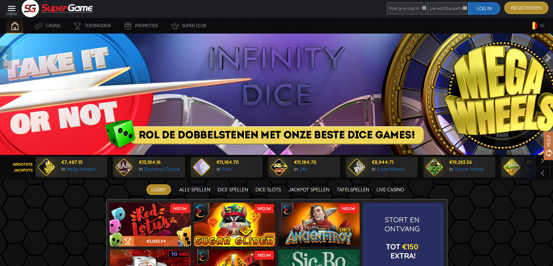 Dice games Supergame