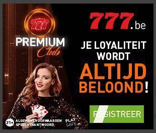 777.be premium club - Aanbiedingen van de Belgische online casino's - september 2020