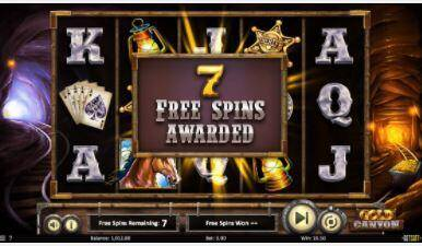 Gold canyon - free spins
