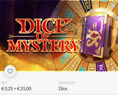 Draai aan het Rad van fortuin | Dice of Mystery | Dobbelspel Gaming1